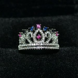 S925 silver crown ring